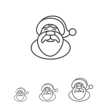 santa claus face: Icon of Santa Claus face