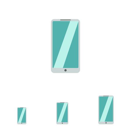 smartphone icon: Icon of silver smartphone
