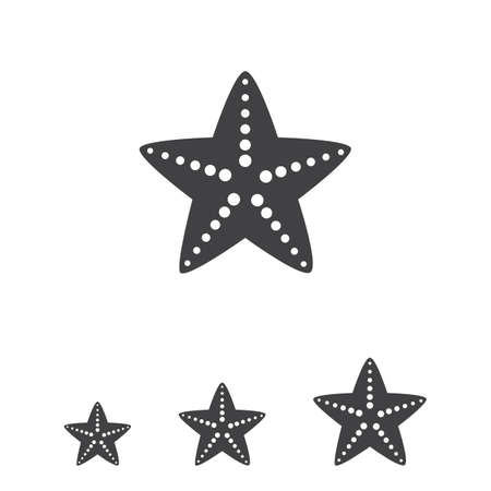 invertebrate: Starfish icon Illustration