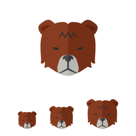 stock exchange brokers: Icon of bears head as stock market trend Illustration