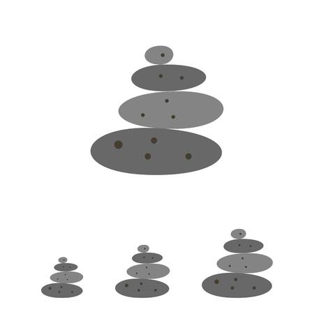 spa stone: Multicolored vector grey stones for spa stone therapy Illustration
