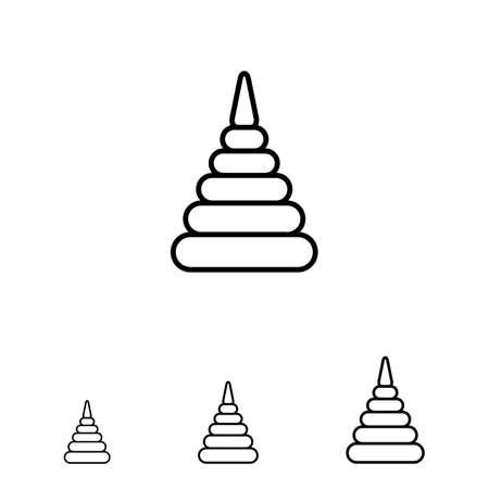 stacking: Stacking toy icon
