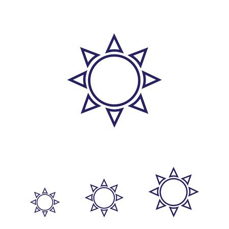 precipitation: Icon of sun with beams Illustration