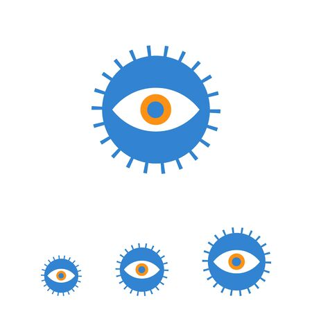Icon of open human eye in circle