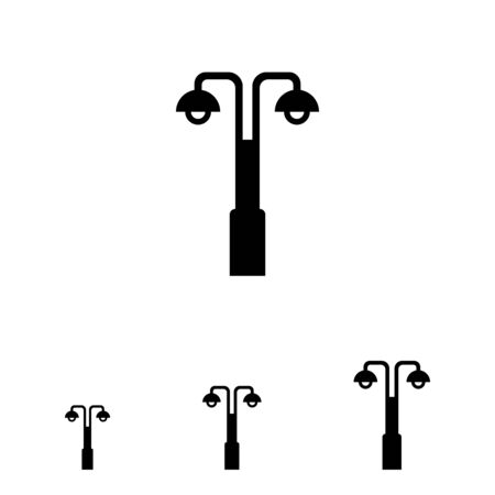 street lamp: Vector icon of street lamp with double lantern