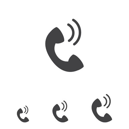 receiver: Telephone receiver icon Illustration