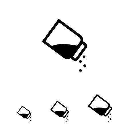 seasoning: Vector icon of seasoning with pepper using pepper shaker Illustration