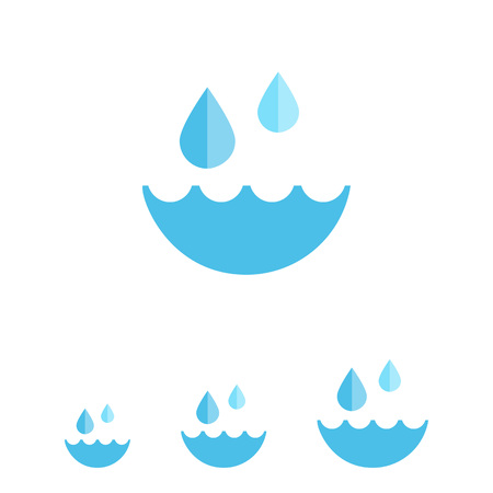 drops of water: Water and water drops Illustration