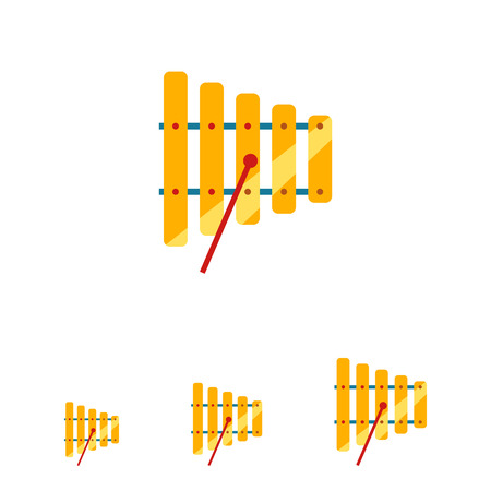 Icon Of Xylophone With Mallet Royalty Free Cliparts Vectors And