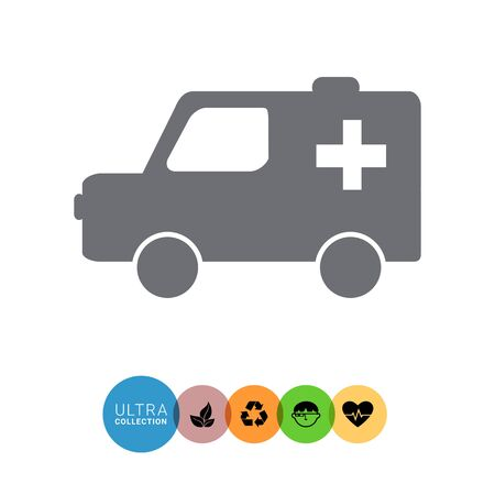 aiding: Ambulance car icon