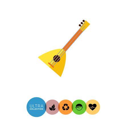 balalaika: Multicolored vector icon of balalaika, special Russian musical instrument