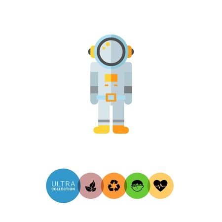spacesuit: Multicolored vector icon of astronaut in spacesuit Illustration