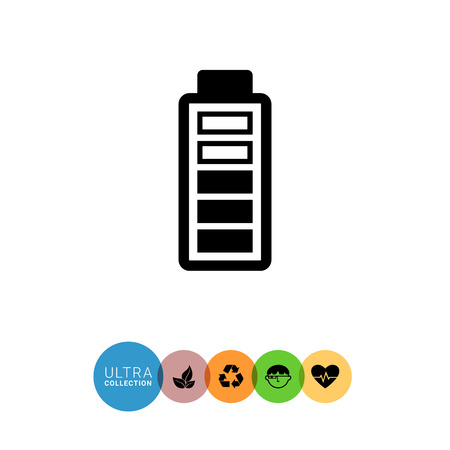 indication: Icon of battery with charge level indication
