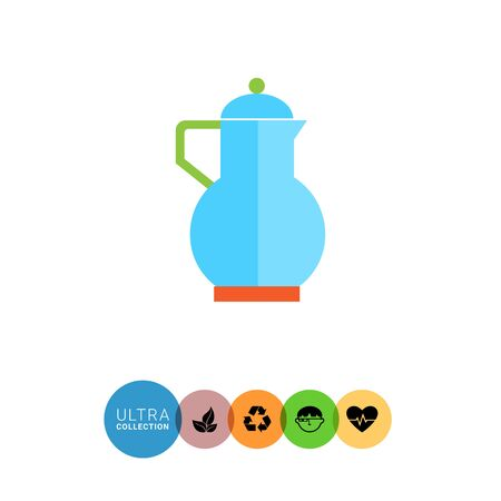 jug: Icon of blue jug with lid
