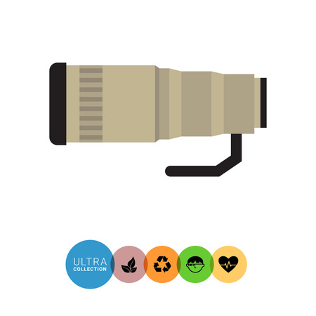 removable: Vector icon of removable optical camera lens Illustration