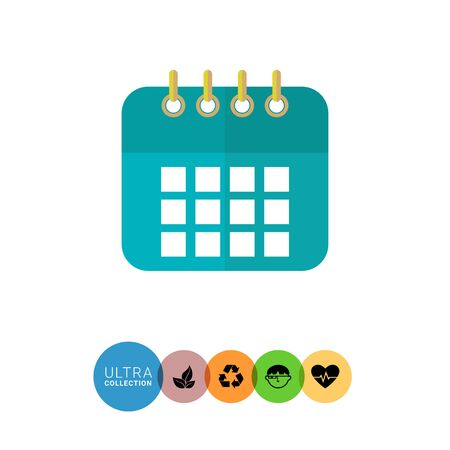 calendar page: Icon of calendar page Illustration