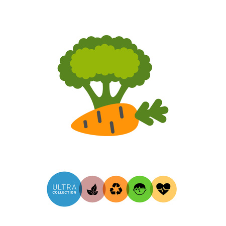 Icon of carrot and broccoli curd