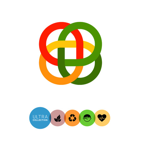 loop: Multicolored vector icon of loop Celtic ornament Vectores
