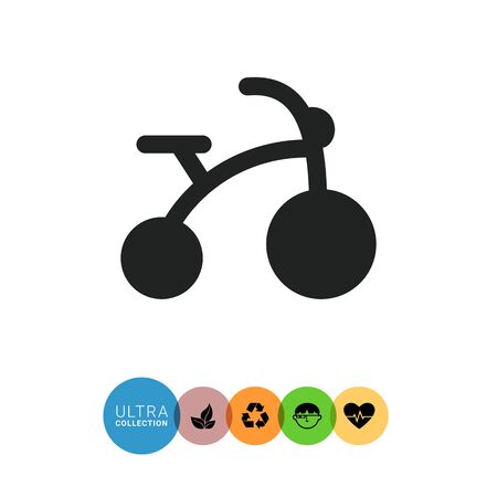 Icon of children's bicycle