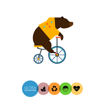Icon of circus riding bicycle
