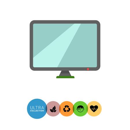 monitor: Icon of computer monitor Illustration