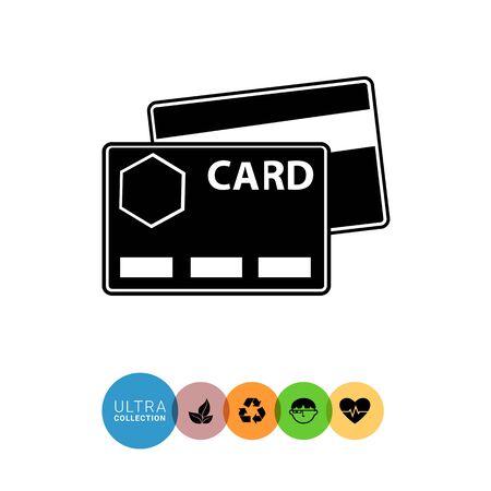 cashless: Icon of credit cards Illustration