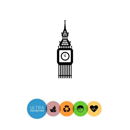 big ben tower: Icon of Big Ben tower Stock Photo