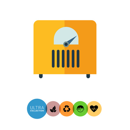sensor: Multicolored vector icon of device with analog sensor
