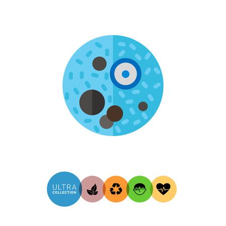 ameba: icono de ameba disenter�a. ilustraci�n de vectores multicolor de ameba caus� la infecci�n de la disenter�a Vectores