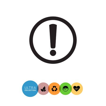 exclamation mark: Vector icon of exclamation mark in circle