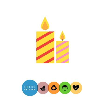 festive: Icons of festive candles