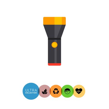 flashlight: Flashlight icon Illustration