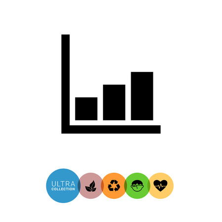 uptrend: Icon of growing histogram