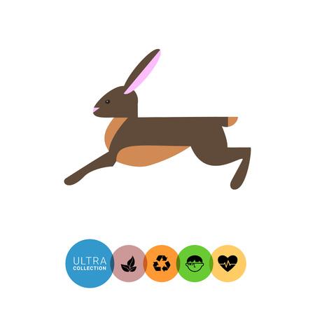 liebre: Icono de la liebre corriendo Vectores
