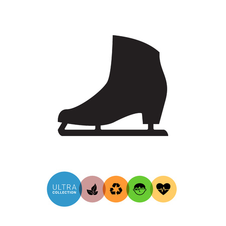 ice skate: Vector icon of classic female ice skate