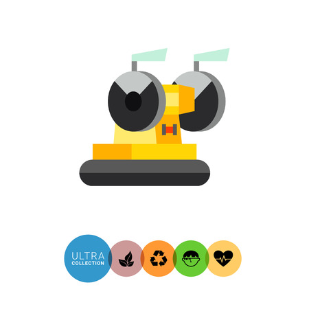 industrial machine: Multicolored vector icon of industrial equipment. Grinding machine Illustration