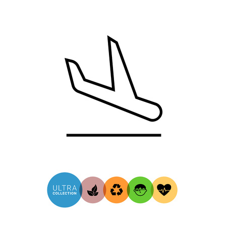 charter: Icon of landing airplane Illustration