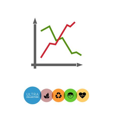 uptrend: Icon of line histogram Illustration