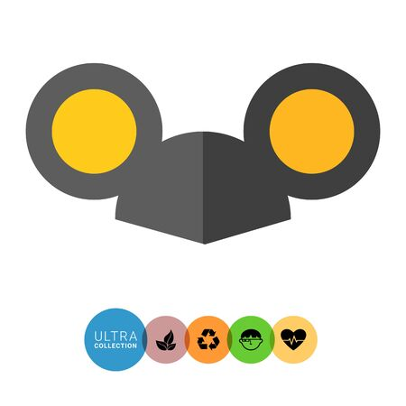 fancy dress party: Vector icon of black cap with mouse ears
