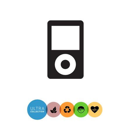 portable audio: Vector icon of mp3 player with blank display