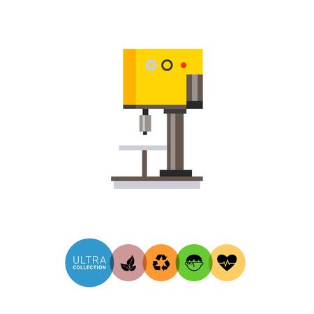 industrial machine: Multicolored vector icon of industrial equipment. Milling machine Illustration