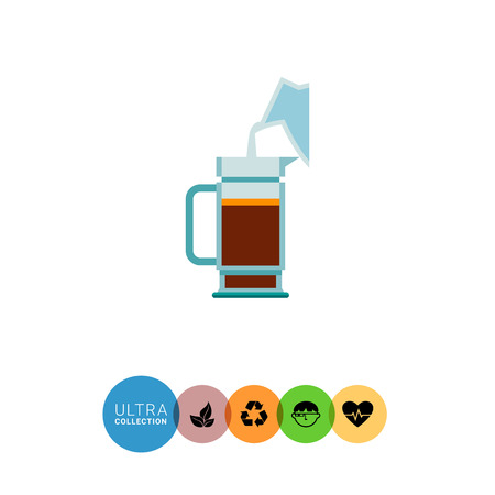decanter: Icon of water being poured from decanter to coffee pot Illustration