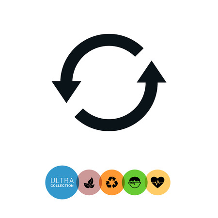 revision: Icon of reload sign with arrow circle pictogram