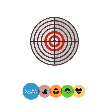 shooting target: Multicolored vector icon of round shooting target