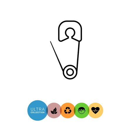 baby changing sign: Safety pin icon