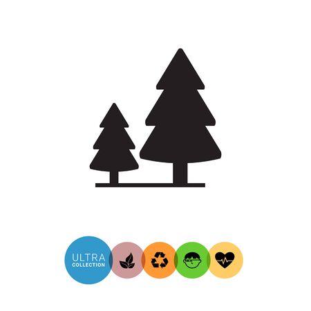 2 つのモミの木と木製看板のベクトルのアイコン 写真素材 - 57723348