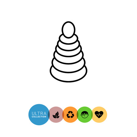 coordination: Icon of stacking toy Illustration