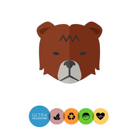 trend: Icon of bears head as stock market trend Illustration