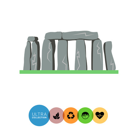 ancient civilization: Stonehenge icon Illustration