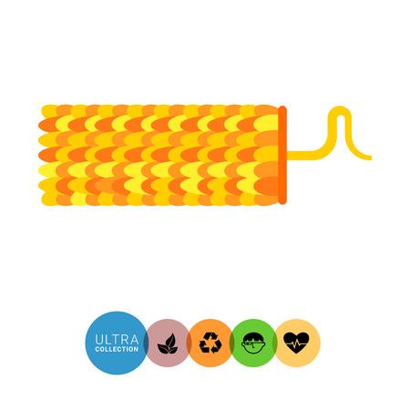 Tobacco mosaic virus flat icon. Multicolored vector illustration of virus caused plant diseases